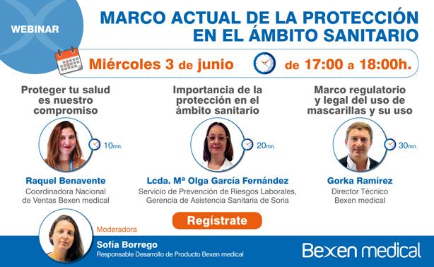 WEBINAR ONLINE DE BEXEN MEDICAL: MARCO ACTUAL DE LA PROTECCIÓN EN EL ÁMBITO SANITARIO